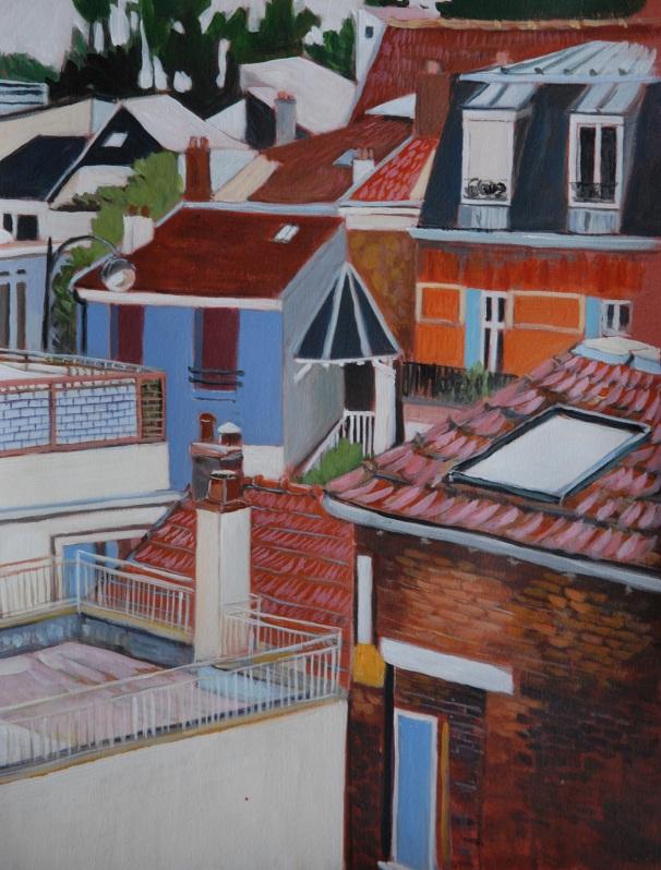 Vue de chez Papa (Parisian rooftops). Julie Harms