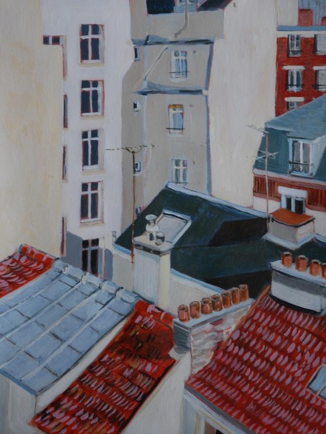 Vue de chez Papa 2 (parisian rooftops). Julie Harms