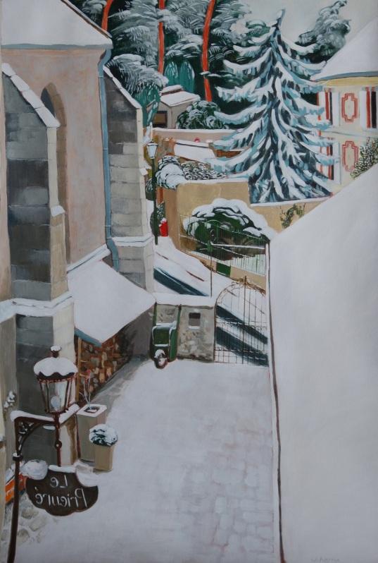 The prieuré under the snow. Julie Harms