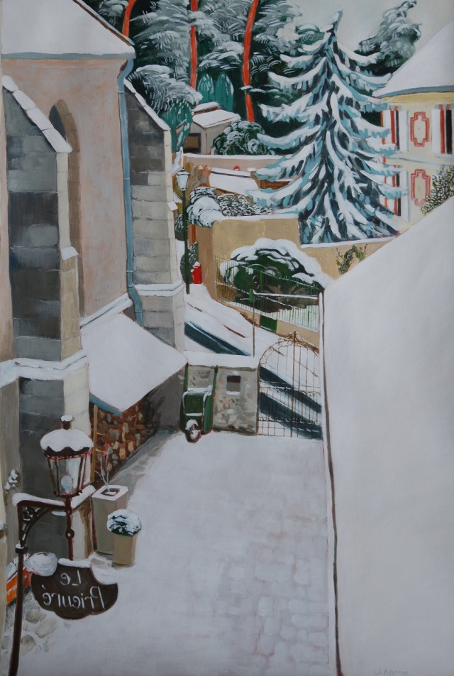 The prieuré under the snow. Julie Harms