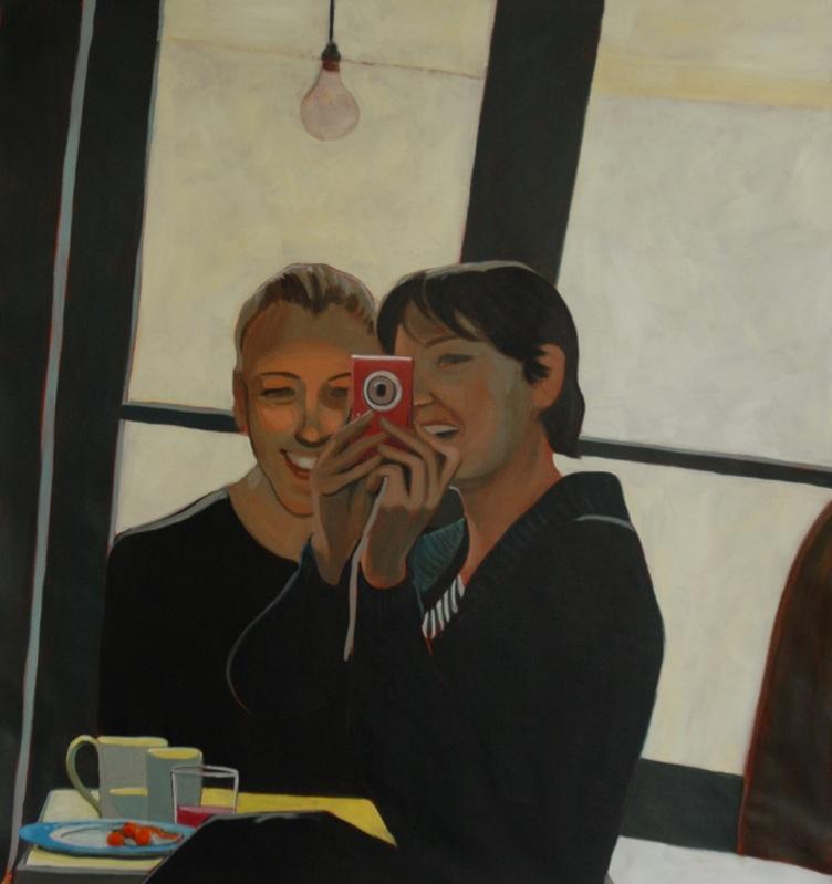 Self-Portrait with a friend. Julie Harms