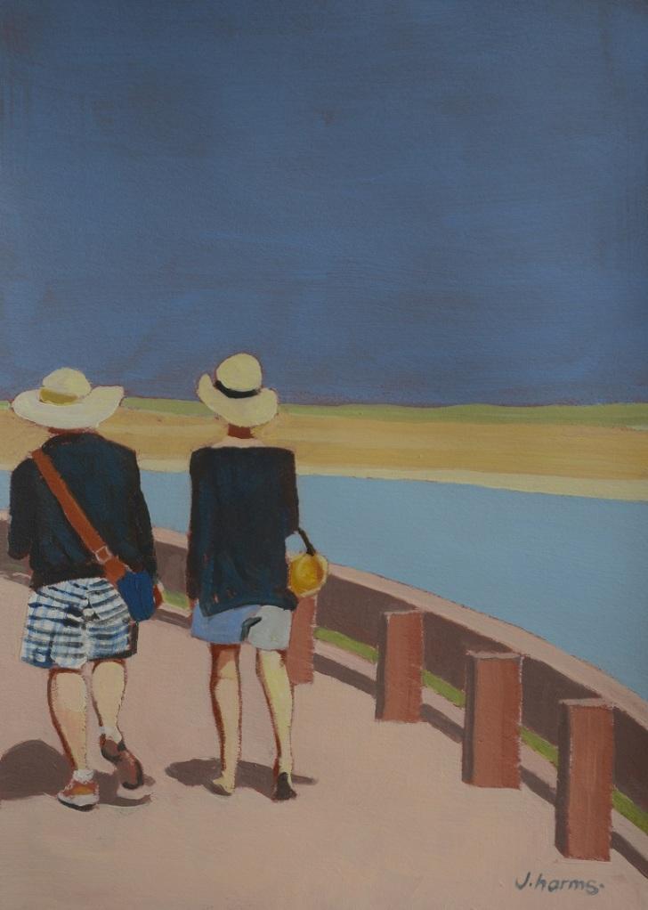 Along the Bay of Saint-Valery. 2013. 17x24 cm. Acrylic on Paper. J.Harms.
