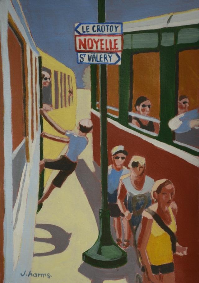 La route des vacances. 2013. 17x24cm. Acrylic on paper. Julie Harms
