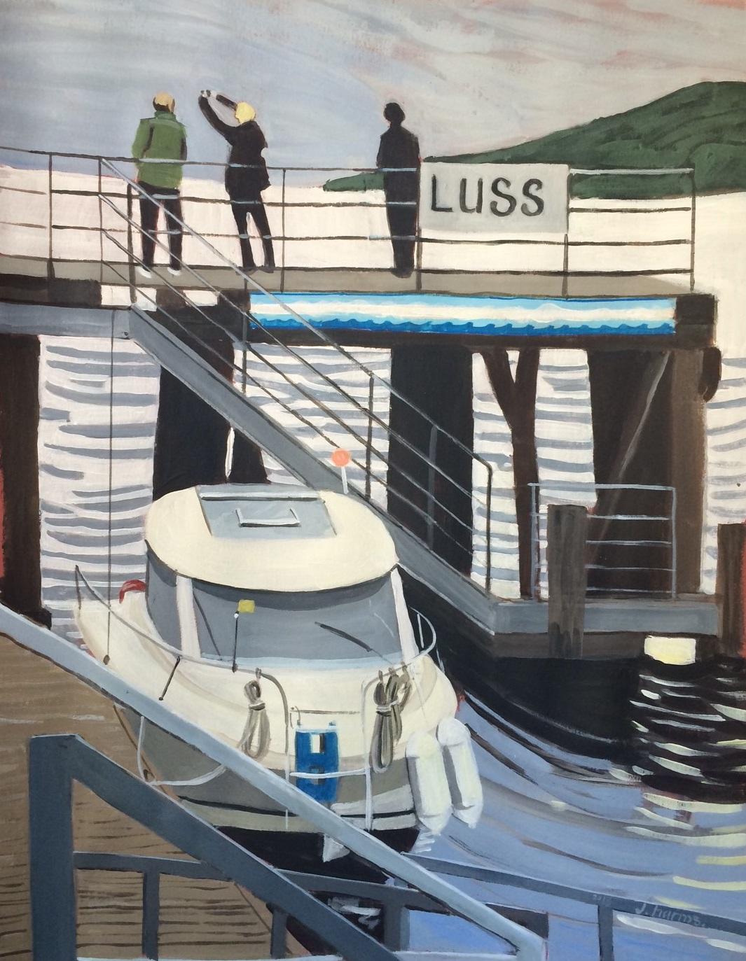Luss. 2015. J.Harms. 30x40cm. Acrylic on paper. - Copie