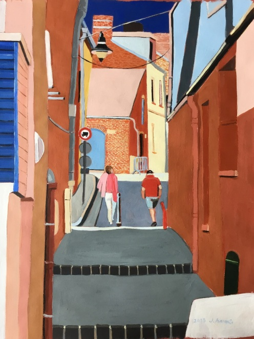 Ruelle rouge. J.Harms.