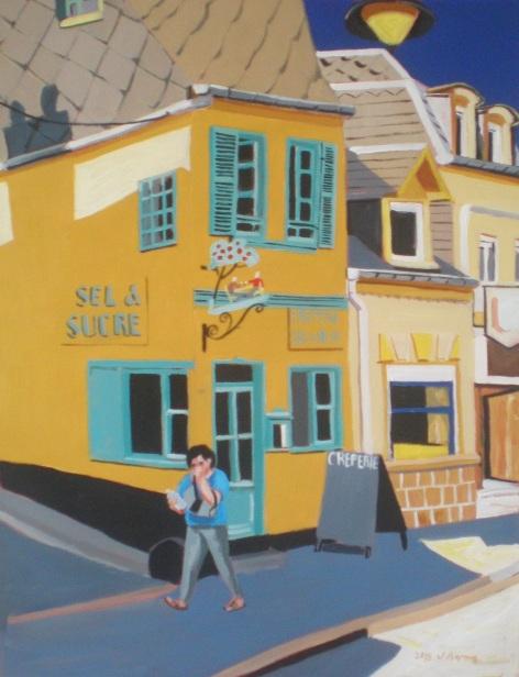 Jaune et bleu à St-Valery. 2015. J.Harms. 29,5x30,5cm. Acrylic on paper