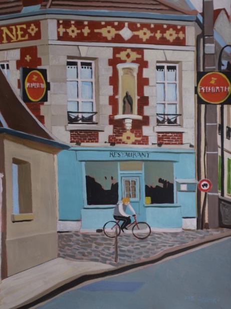 Le Saint, les pélicans et le cycliste. 2016. J.Harms.