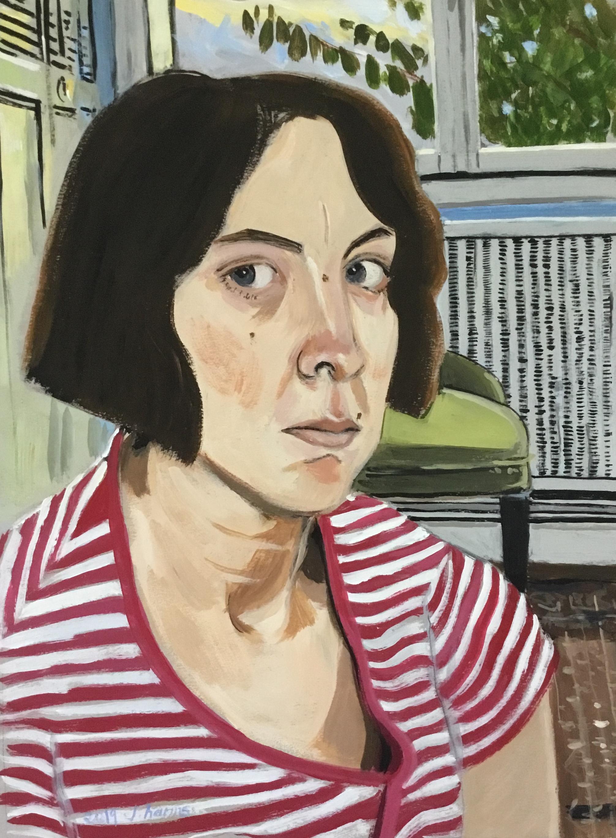 Yearly self-portrait au carré. 2019. J.Harms.
