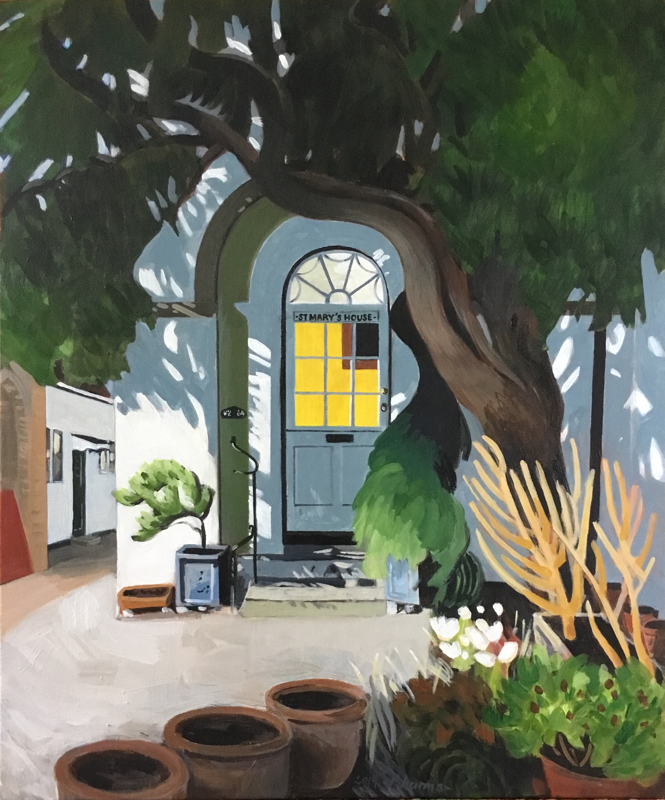 The yellow window. Windows of Rye. J.Harms.